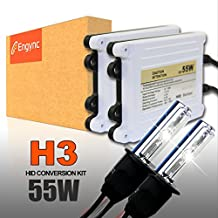 Engync® 55W AC H3 Xenon HID Conversion Kit with Premium Ballasts and 3 Year Warranty | Hi/Low Diamond White / Hyper White / Pure White Color (6000K)