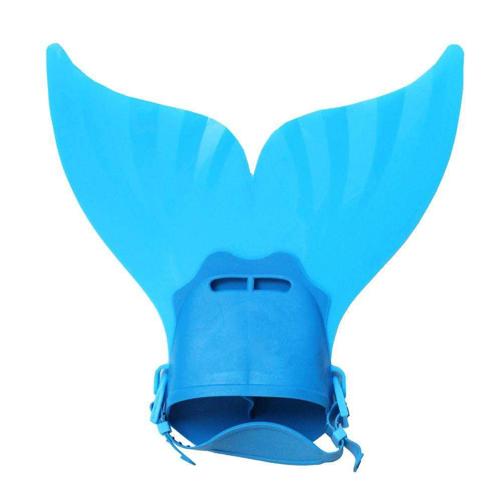 bluee Swimming Mermaid Fin, YiMiky Cute Kids Swimming Fins Monofin Mermaid Tails Foot Flippers Water Sports Training shoes Feet Tail Monofin Swimming Snorkeling Fins for Girls Boys bluee