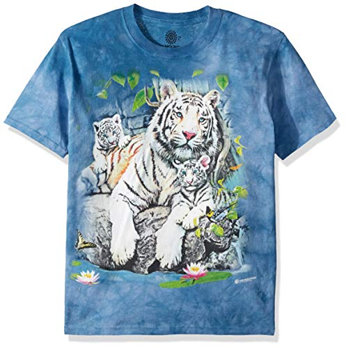The Mountain Unisex-Adult's White Tigers of Bengal, Blue, Large