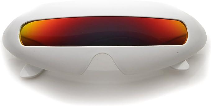 ZeroUV futurista Shield – Lente única ovalado fiesta Novelty ...