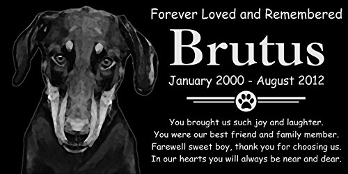 Personalized Natural Uncropped Doberman Pinscher Dog Pet Memorial 12