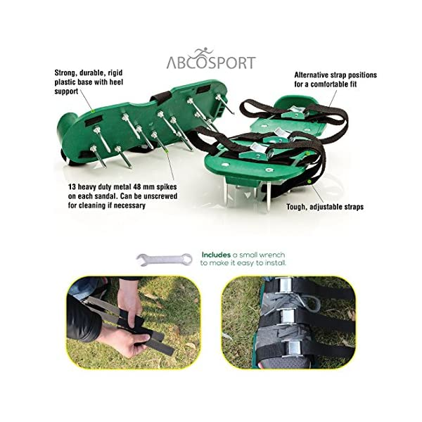 Lawn-Aerator-Spike-Shoes–For-Effectively-Aerating-Lawn-Soil–Comes-with-3-Adjustable-Straps-with-Metallic-Buckles–Universal-Size-that-Fits-all–For-a-Greener-and-Healthier-Garden-or-Yard