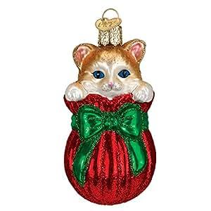 Old World de la bolsa de gato con regalo navideño de