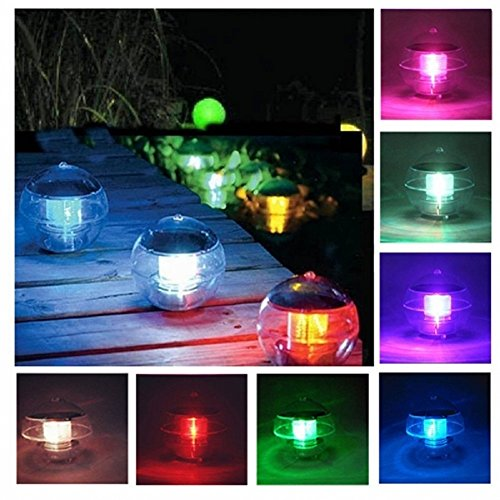 Svitlife Waterproof LED Solar Floating Light 7 Colors Changing Hanging Globe Ball Lamp Decoration by Svitlife