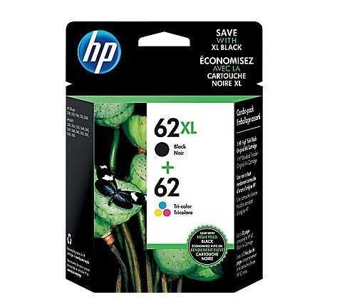 hp-62xl-black-62-tri-color-ink-cartridges-n9h67fn-2-pack