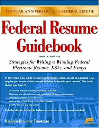 amazon com federal resume guidebook strategies for writing a