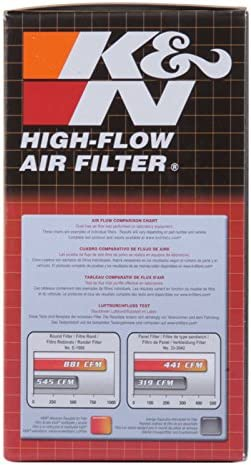 K and N E-2470 Washable and Reusable Motorcycle Replacement Air Filter