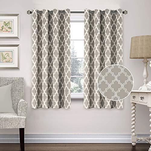 Flamingo P Blackout Moroccan Tile Quatrefoil Blackout Top Grommet Unlined Thermal Insulated Window Curtains