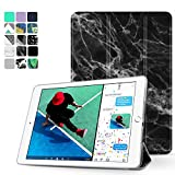 """TNP New iPad 2017 iPad 9.7 inch Case - Lightweight Smart Case Trifold Slim Shell Stand Cover with Auto Sleep Wake Function Feature for Apple iPad 9.7"""" 2017 Release Tablet (Marble Black)"""