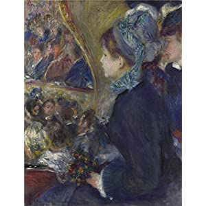 Polyster Canvas ,the Best Price Art Decorative Prints On Canvas Of Oil Painting 'Pierre Auguste Renoir At The Theatre (La Premiere Sortie) ', 8 X 10 Inch / 20 X 27 Cm Is Best For Dining Room Decoration And Home Gallery Art And Gifts