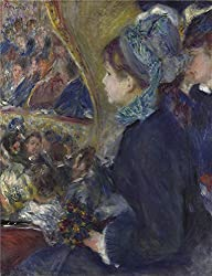 Oil Painting 'Pierre Auguste Renoir At The Theatre (La Premiere Sortie) ' Printing On High Quality Polyster Canvas , 12 X 16 Inch / 30 X 40 Cm ,the Best Bar Decor And Home Decor And Gifts Is This Replica Art DecorativeCanvas Prints
