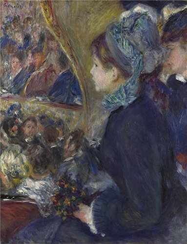 'Pierre Auguste Renoir At The Theatre (La Premiere Sortie) ' Oil Painting, 10 X 13 Inch / 25 X 33 Cm ,printed On Perfect Effect Canvas ,this Beautiful Art Decorative Canvas Prints Is Perfectly Suitalbe For Nursery Decor And Home Decoration And Gifts