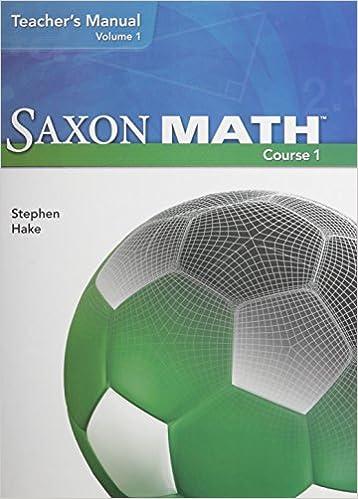 Amazon.com: Saxon Math Course 1: Teacher's Manual, Vol. 1 ...