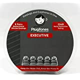 Plugfones Gray Silicone Replacement Plugs 5 Pairs