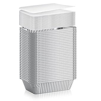 Amazon.com: Pack de 50 sartenes de aluminio desechables y ...
