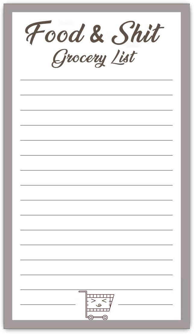 Full Magnetic Grocery List 50 Sheets Valentine's Day for Her