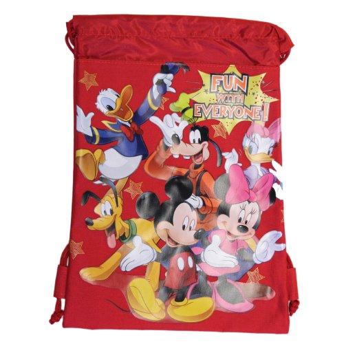 Red Mickey und Freunde Tasche mit Tunnelzug Rucksack - Beutel mit Tunnelzug rL8ir1iIZ