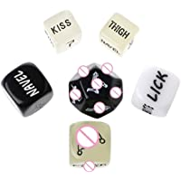 Fun Dice for Couples, Role Playing Sex Dice with Positions, Love Games Novelty Newlyweds, Honeymoon, Bacherette Party…