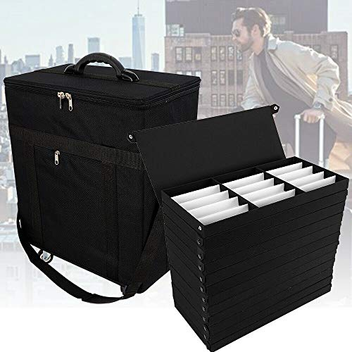 NICE CHOOSE Sunglasses Storage Case,180 Slot Eyeglasses Storage Display Case Box Travel Trolley Case Oxford Cloth - Black (US Shipping) by NICE CHOOSE (Image #2)
