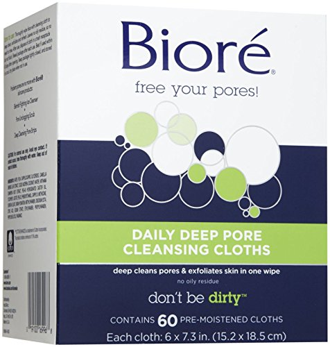(Biore Daily Recharging Cleansing Cloths Refill, 60 ct)