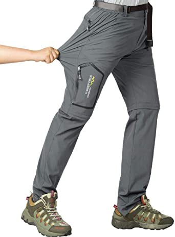 Hiking Pants Womens Convertible Quick Dry Lightweight Zip Off Outdoor Fishing Travel Safari Capri Pants