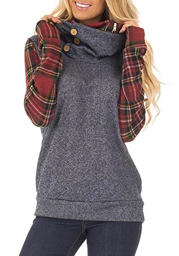 cowl neck womens sweatshirt - 7