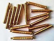 GPP Arrow Point Insert Brass Inserts for Hunting Arrow Heads Broadheads Copper Arrow Inserts .244/6.2mm,100 Gr