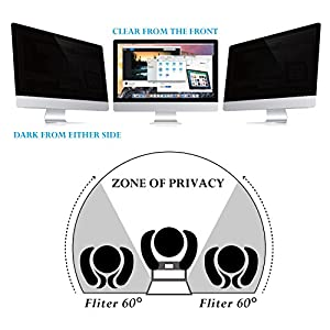 "Flexzion 24"" Inch Privacy Screen Filter Anti-Glare Protective Film Damage Scratch Proof For Widescreen LCD Monitor Display PC Desktop Laptop Computer (16:10 Ratio)"