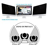 Flexzion Privacy Screen Filter Anti-Glare Protector Film Damage Scratch Proof For 12.1 Inch Widescreen Displays PC Laptop Desktop Notebook Computer LCD Monitor