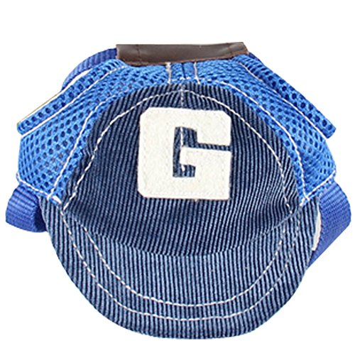 BUYITNOW Adjustable Dog Sun Visor Hat Cool Summer Basebal...