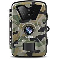 AKASO Trail Camera with Infrared Night Vision 1080P HD 12 MP Surveillance Camera Waterproof