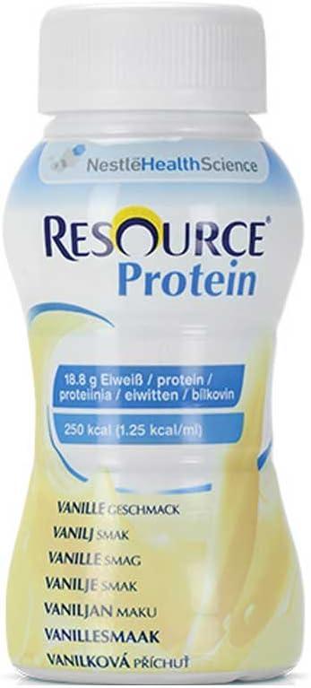 Nestle – Alimentos Resource® proteína Drink Vainilla, 200 ml, 4 unidades)