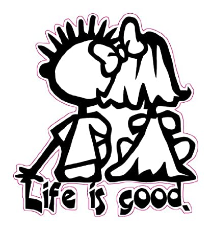 56a479569f7 Amazon.com  Nostalgia Decals Life is Good Decal 5