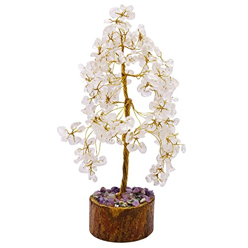 ear Quartz Reiki Healing Stones Tree Spiritual Feng Shui Table Décor ()