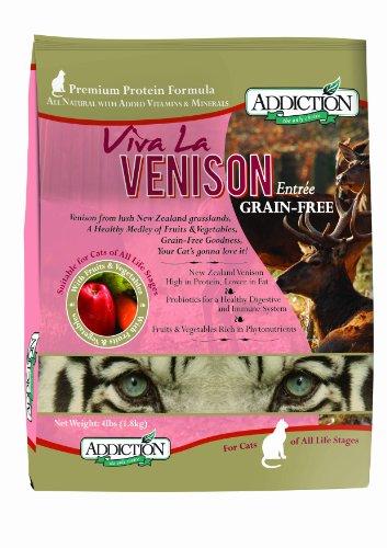 Addiction Grain-Free Adult Dry Cat Food, Viva La Venison, 4 Pounds, My Pet Supplies