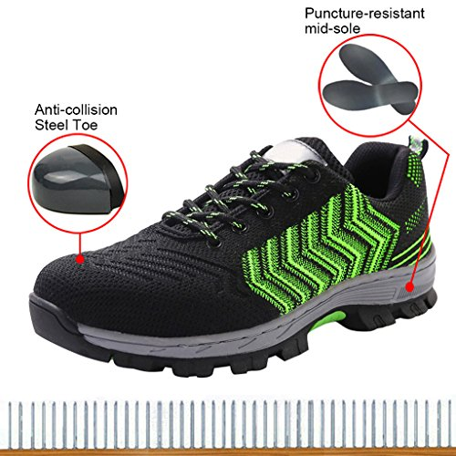 Women's Safety Shoes Work Shoes Composite Protect Toe Shoes