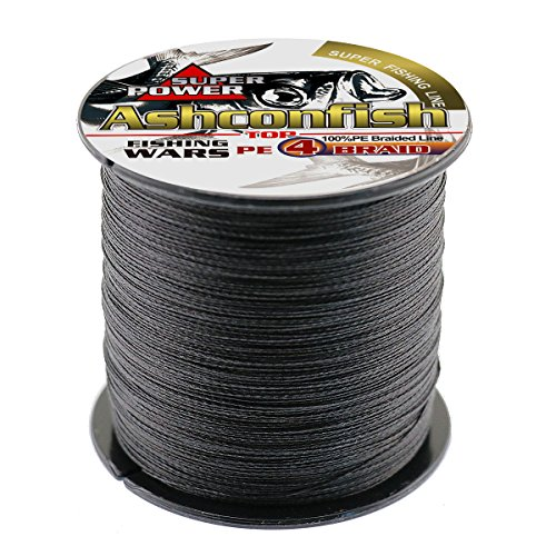 ong Braided Fishing Line-4 Strands Fishing Wire 500M/546Yards 35LB Black ()