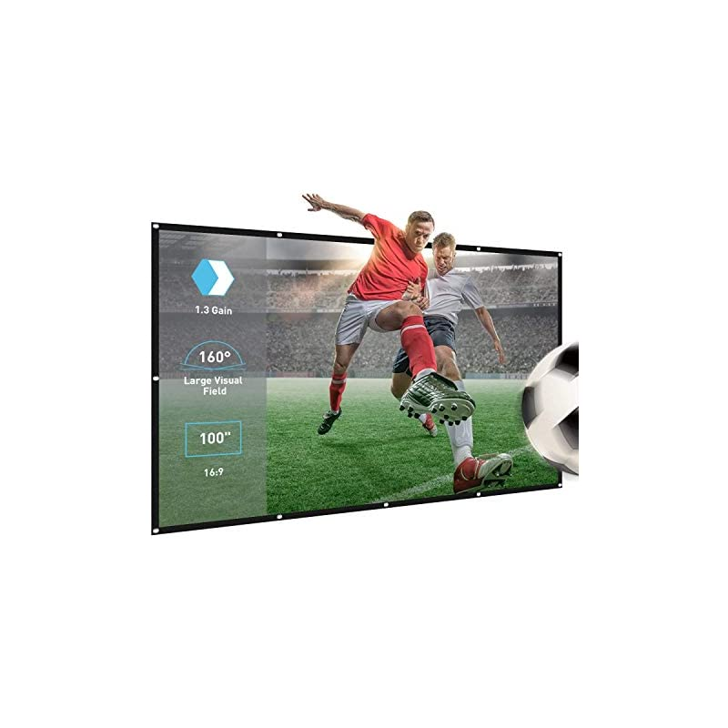Projector Screen,100inch 16:9 Portable H