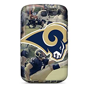 Shockproof Hard Cell-phone Case For Samsung Galaxy S3 With Provide Private Custom Lifelike St. Louis Rams Pictures CharlesPoirier