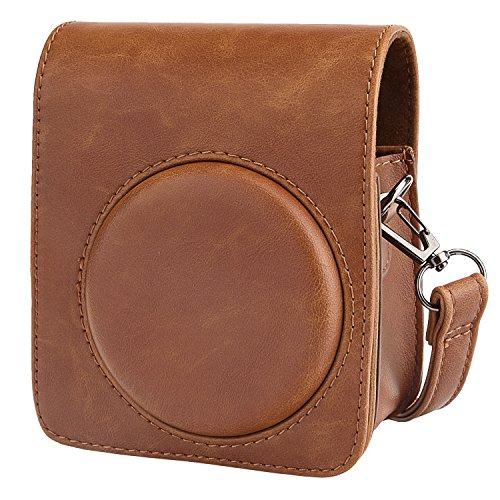 Sunmns Retro Vintage PU Leather Shoulder Case Bag for Fujifilm Instax Mini 70 Instant Film Camera, Brown