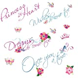 RoomMates RMK1521SCS Disney Princess Quotes Peel and Stick Wall Decals, Baby & Kids Zone