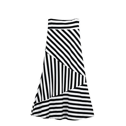 VEZAD High Waist Striped Fold Women Asymmetric Over, used for sale  Delivered anywhere in USA
