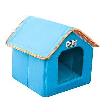 LJFG Pet House Portable al Aire Libre Nido de Mascota para Gato Gatito o Cachorro Cama Cueva o Refugio,C,L: Amazon.es: Hogar
