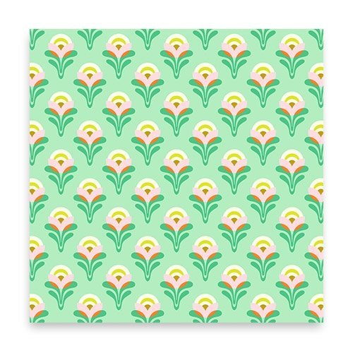 Buttercup Jade by Heather Bailey for FreeSpirit Fabrics - PWHB053.JADEX - Orange Pink Vine (Yard)