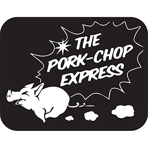 NBFU DECALS Pork CHOP Express (Black) (Set of 2) Premium Waterproof Vinyl Decal Stickers for Laptop Phone Accessory Helmet Car Window Bumper Mug Tuber Cup Door Wall ()