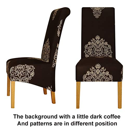 TANGOGO Large Size Long Back Chair Cover King high Back Spandex Fabric Chair Covers Restaurant Hotel Party Banquet Chair Slipcovers