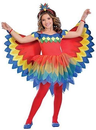 Fancy Me Niñas Bonita Loro Hada Colorido Carnaval Animal Verano ...