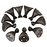BQLZR Antique Bronze Decorative Feet Leg Corner Protector for Jewelry Wooden Boxes Pack of 10
