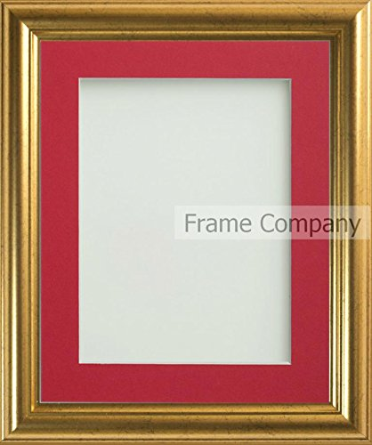 Frame Company Eldridge Gold Picture Photo Frames With Red Mount