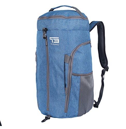 TB TIBAG 35L/40L Packable Lightweight Waterproof Travel Sports Duffel Backpacks Bag (40L, LIGHT BLUE)